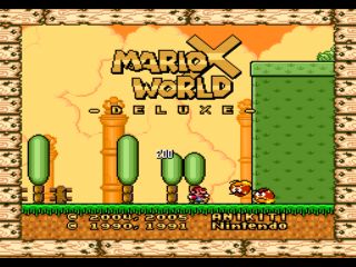 Screenshot Thumbnail / Media File 1 for Super Mario World (USA) [Hack by Anikiti v1.0] (~MarioX World - Deluxe) (Ja)